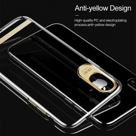 USAMS Electroplating Anti Yellowing PC Hardcase for iPhone X - Black - 2