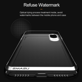 USAMS Electroplating Anti Yellowing PC Hardcase for iPhone X - Black - 4