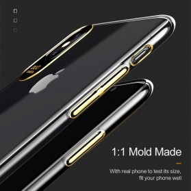 USAMS Electroplating Anti Yellowing PC Hardcase for iPhone X - Black - 6