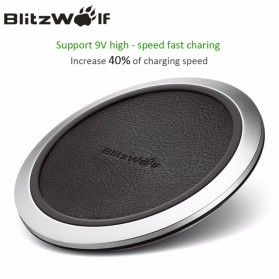 Blitzwolf Qi Wireless Fast Charger 9V for Smartphone - FWC1 - Black