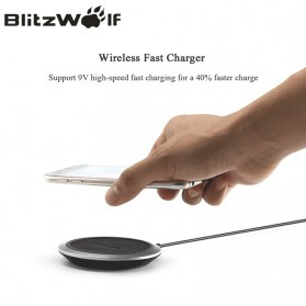 Blitzwolf Qi Wireless Fast Charger 9V for Smartphone - FWC1 - Black - 2