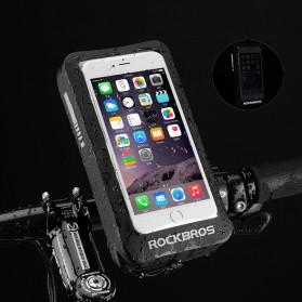 Rockbros Holder Smartphone Motor Waterproof Large Size 5.8 Inch  - ZJ-04 - Black - 2