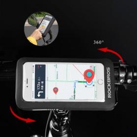Rockbros Holder Smartphone Motor Waterproof Large Size 5.8 Inch  - ZJ-04 - Black - 3