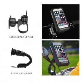 Rockbros Holder Smartphone Motor Waterproof Large Size 5.8 Inch  - ZJ-04 - Black - 4
