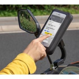 Rockbros Holder Smartphone Motor Waterproof Large Size 5.8 Inch  - ZJ-04 - Black - 6