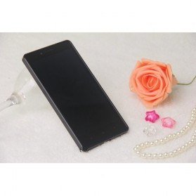 Ultra Thin Aluminium Metal Bumper Case Dual Color for Xiaomi Redmi Note - Black