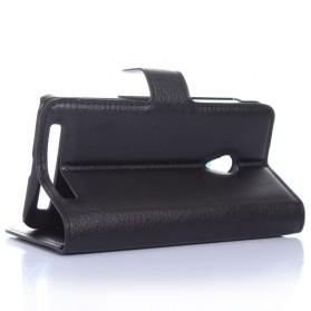 Leather Wallet Case for Asus Zenfone 5 - Black - 3