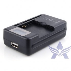 Universal Charging USB Wall Dock Battery with LCD Display - SS-5 - Black - 2