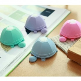 Tortoise Silicone Stand Earphone Wrap Holder for Smartphone - Blue - 1