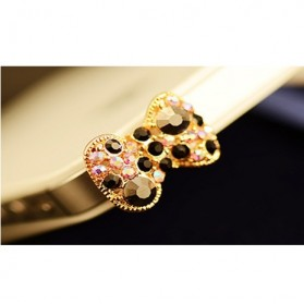 Multi Color Diamond Butterfly Earphone Jack Plug Accessories