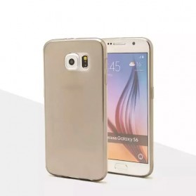 Ultrathin TPU Transparent Silicone Soft Case for Samsung Galaxy S6 - Gray