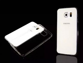 Ultrathin TPU Transparent Silicone Soft Case for Samsung Galaxy S6 - Transparent - 6