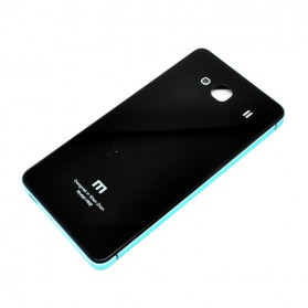 Aluminium Tempered Glass Hard Case for Xiaomi Redmi 2 - Black/Blue - 2 ...