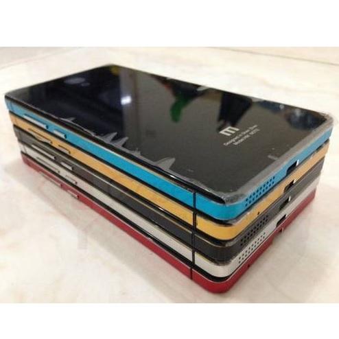 Aluminium Tempered Glass Hard Case for Xiaomi Redmi 2 / Redmi 2 Prime - Black/ ...