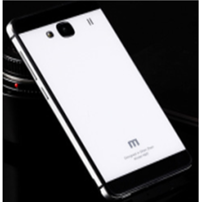 ... Aluminium Tempered Glass Hard Case for Xiaomi Redmi 2 Redmi 2 Prime White