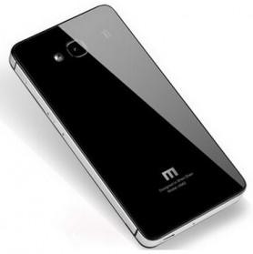 Aluminium Tempered Glass Hard Case for Xiaomi Redmi 2 / Redmi 2 Prime - Black/Silver