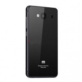 Aluminium Tempered Glass Hard Case for Xiaomi Redmi 2 / Redmi 2 Prime - Black