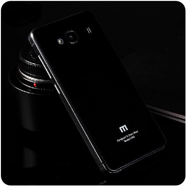 new product 0e772 837ac Aluminium Tempered Glass Hard Case for Xiaomi Redmi 2 / Redmi 2 Prime -  Black