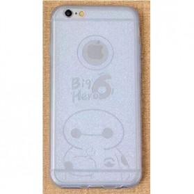 Ultra Thin TPU Case for iPhone 6 - Big Hero Pattern - White