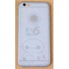 Ultra Thin TPU Case for iPhone 6 Plus - Big Hero Pattern - White