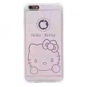 Ultra Thin TPU Case for iPhone 6 - Hello Kitty Pattern - White