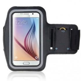 Sports Armband dengan Key Storage untuk Smartphone 5 Inch - Black