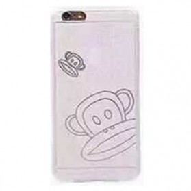 Ultra Thin TPU Case for iPhone 6 Plus - Paul Frank Pattern - White