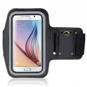 Neoprene Material Sports Armband Case with Key Storage for Samsung Galaxy S6 / Edge - ZE-AD212 - Black