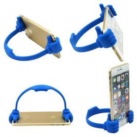 Thumb Holder for Smartphone & Tablet up to 7 Inch - Blue - 2