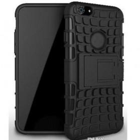 Hybrid Transformer Defender Armor Case with Kickstand for iPhone 6 Plus - Black