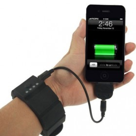 Gelang Power Bank Mini USB 1500mAh - Black