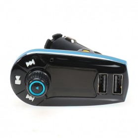 Car FM MP3 Modulator with USB Charger 2.1A for Smartphone - 618C - Black/Blue - 3