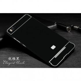 Aluminium Bumper Case with Arcylic Back for Xiaomi Mi4i / Mi4c - Black - 2