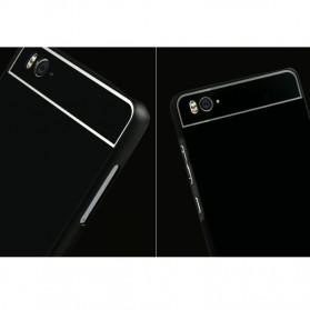 Aluminium Bumper Case with Arcylic Back for Xiaomi Mi4i / Mi4c - Black - 3