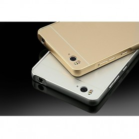 Aluminium Bumper Case with Arcylic Back for Xiaomi Mi4i / Mi4c - Black - 6