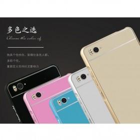 Aluminium Bumper Case with Arcylic Back for Xiaomi Mi4i / Mi4c - Black - 7