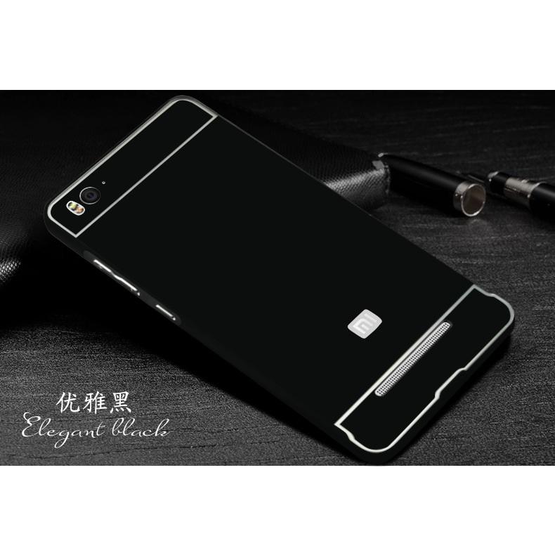 newest 36ba7 14876 Aluminium Bumper Case with Arcylic Back for Xiaomi Mi4i / Mi4c - Black