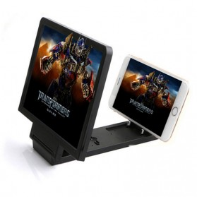 KKMOON Stand Kaca Pembesar 3D Magnifier untuk Smartphone - F1 - Black