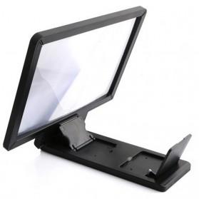 KKMOON Stand Kaca Pembesar 3D Magnifier untuk Smartphone - F1 - Black - 2