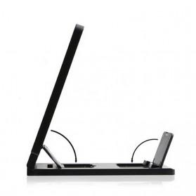 KKMOON Stand Kaca Pembesar 3D Magnifier untuk Smartphone - F1 - Black - 3
