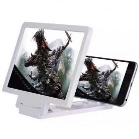 KKMOON Stand Kaca Pembesar 3D Magnifier untuk Smartphone - F1 - White - 2