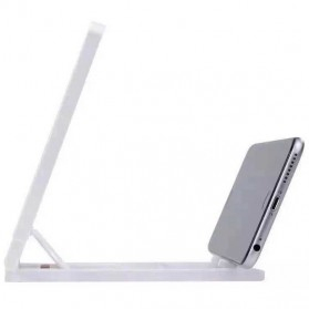 KKMOON Stand Kaca Pembesar 3D Magnifier untuk Smartphone - F1 - White - 3