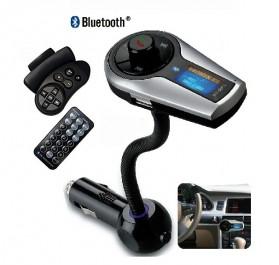 Bluetooth FM Transmitter Mobil dengan Handsfree Stir - M398 - Black