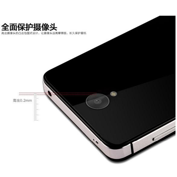 ... Aluminium Tempered Glass Hard Case for Xiaomi Redmi Note 2 - Black Blue - 5 ...