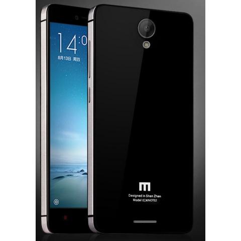... Aluminium Tempered Glass Hard Case for Xiaomi Redmi Note 2 - Black/Silver - 3 ...