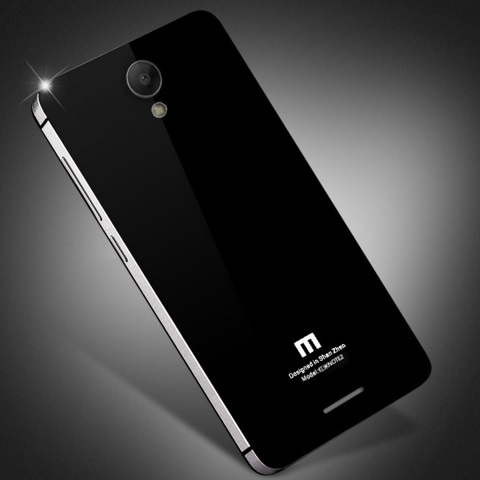 ... Aluminium Tempered Glass Hard Case for Xiaomi Redmi Note 2 - Black/Silver - 4 ...