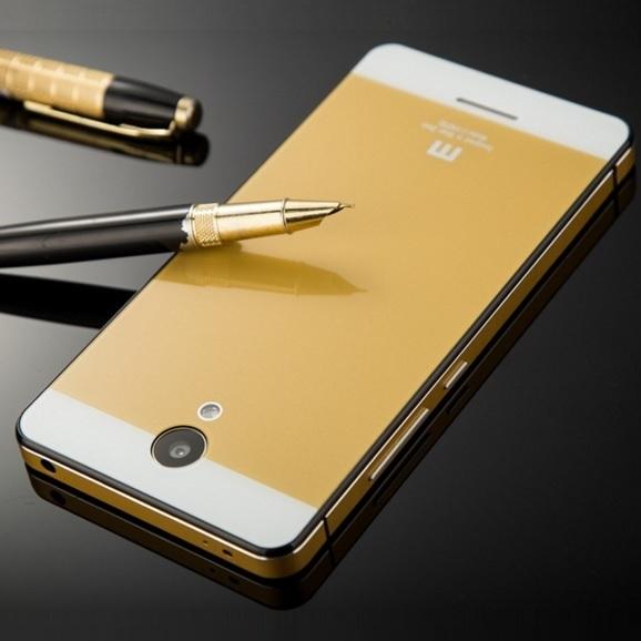 best service 75eec 7988e Aluminium Tempered Glass Hard Case for Xiaomi Redmi Note 2 - Golden