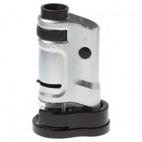 Pocket Microscope 20x-40x Magnifier - MG10081-8 - Silver