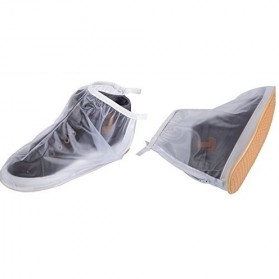Rain Cover Sepatu Waterproof Size M - Transparent