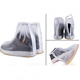 Rain Cover Sepatu Waterproof Size M - Transparent - 2